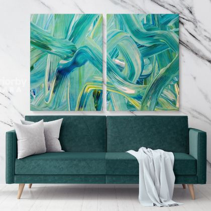 Abstract Artworks Painting Photo Print on Canvas with Frame Acrylic Wall Posters Mural Hangings Gift