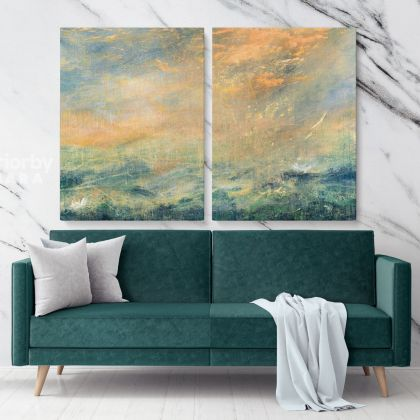 Magic Hour Acrylic Canvas Paint Photo Abstract Artworks Wall Posters Mural Hangings