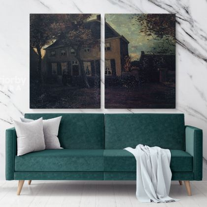 The Parsonage At Neunen by Vincent Van Gogh Dutch Painter Original Canvas Painting Photo Print Wall Mural Home Decor