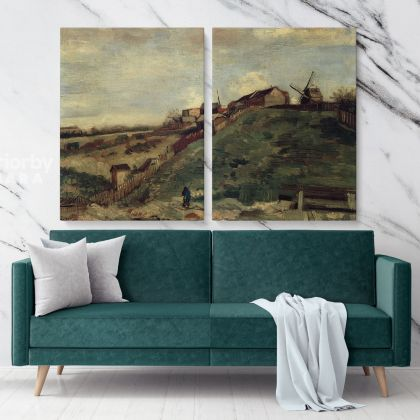 Montmartre Quarry The Mills Painting by Vincent Van Gogh Dutch Painter Original Painting Canvas Photo Print Wall Artwork