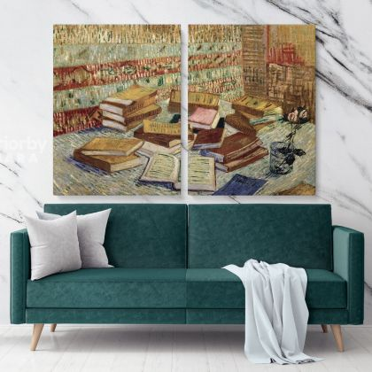 Still Life French Novel Painting by Vincent Van Gogh Dutch Painter Original Painting Canvas Photo Print Wall Art Decor