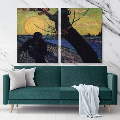 Vincent Van Gogh The Shower Painting Canvas Photo Print with Frame Famous Dutch Painter Original Painting Wall Artwork