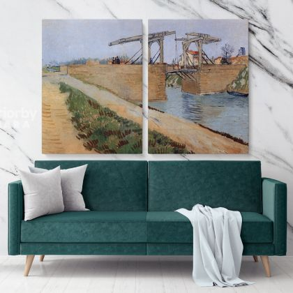 The Langlois Bridge At Arles Painting by Vincent Van Gogh Dutch Painter Original Painting Canvas Photo Print Wall Art Hangings Gift