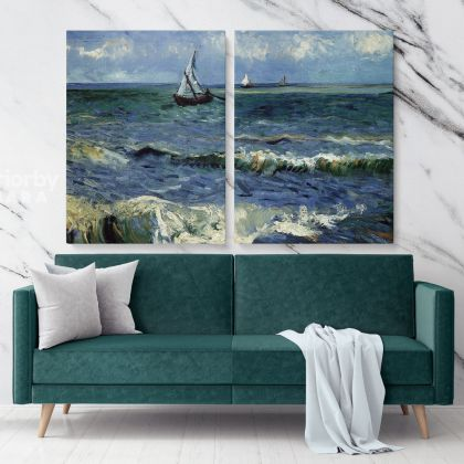 Seascape At Saintes Maries Painting by Vincent Van Gogh Dutch Painter Original Painting Canvas Photo Print Wall Art Gift