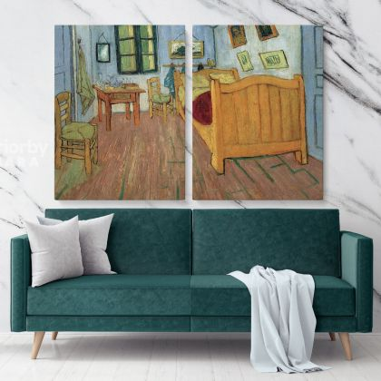 Bedroom In Arles Painting by Vincent Van Gogh Dutch Painter Original Painting Canvas Photo Print Wall Art Gift