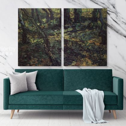 Underdrowth With Ivy Painting by Vincent Van Gogh Dutch Painter Original Painting Photo Print on Canvas Wall Mural