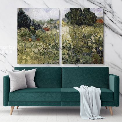Marguerite Gachet In Her Garden Painting by Vincent Van Gogh Dutch Painter Original Painting Photo Print on Canvas Wall Mural