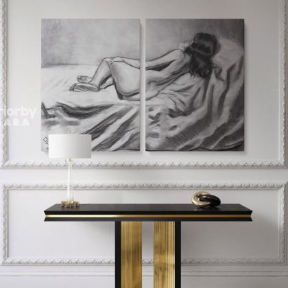 Artworks by Owen Claxton Photo Print on Canvas Nude Girl Fine Artist Painter Home Decor Wall Mural Gift