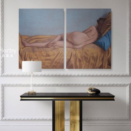 Artworks by Owen Claxton Photo Print on Canvas Nude Girl Fine Artist Painter Home Decor Wall Mural Naked Women Painting