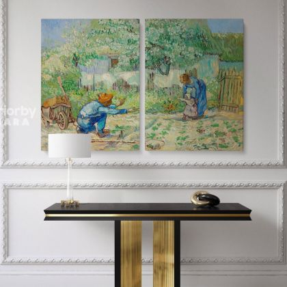 Vincent Van Gogh Original Painting Love, Women and Child Photo Print on Canvas Posters Home Decor Wall Mural