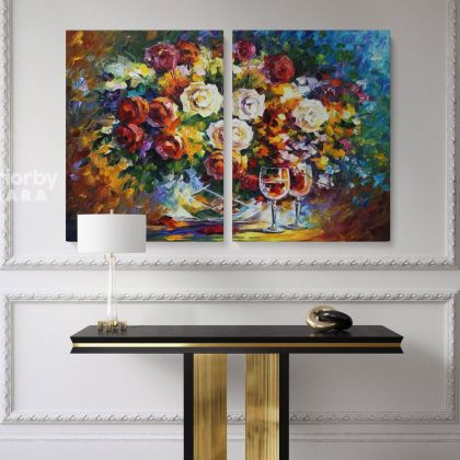 Leonid Afremov Original Oil Painting Photo Print on Canvas Sunflower Art Famous Painting Posters Home Decor Wall Mural