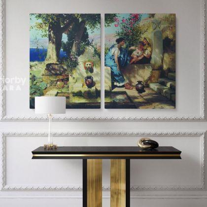Henryk Hector Siemiradzki Artist: Famous Painting Photo Print on Canvas