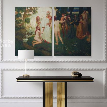 Famous Painting by Henryk Hector Siemiradzki Photo Print on Canvas