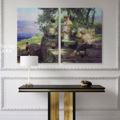 By a Spring Painting by Henryk Hector Siemiradzki Photo Print on Canvas