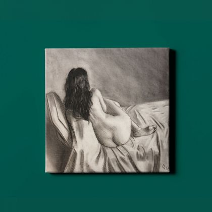 Naked Girl Artworks by Owen Claxton Photo Printed Canvas