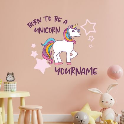 Custom Name Unicorn Wall Decal Stickers Fantasy Girls Bedroom Wall Art Cute Nursery