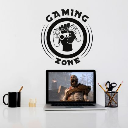 Gaming Zone Decal, large gaming decal, eat sleep decal, gaming wall decal and stickers