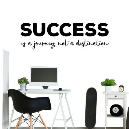 Success Motivational Quote Office Wall Art | Inspirational Quote Wall Decals