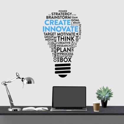 Innovate Inspirational Quote Office Wall Art | Motivational Quote Wall Decals