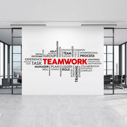 Teamwork Inspirational Quote Office Wall Stickers | Motivational workplace Quote Wall Decals