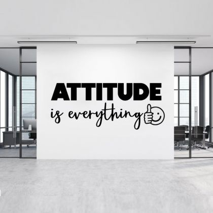 Attitude is Everything Quote Office Wall Stickers | Motivational workplace Quote Wall Decals