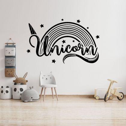 Unicorn Rainbow Wall decals, Kids wall Stickers, Kids room Decor