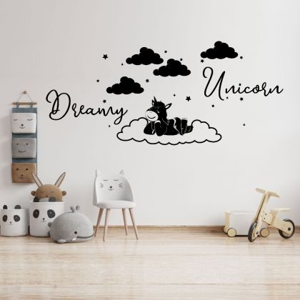 Dreamy Unicorn Home Wall decals, Kids wall Stickers, Kids room Decor