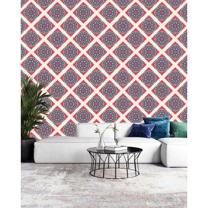 Vintage Mandela Pattern Removable Wallpaper