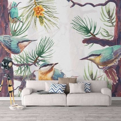 Tropical Tree Hummingbird Wallpaper Tropical Tree Hummingbird Removable Wallpaper Self Adhesive Peel and Stick For Wall Decor