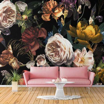 Floral Design Wallpaper Floral Design Removable Wallpaper