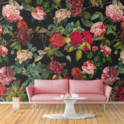 Floral Rose Design Wallpaper Floral Rose Design Removable Wallpaper