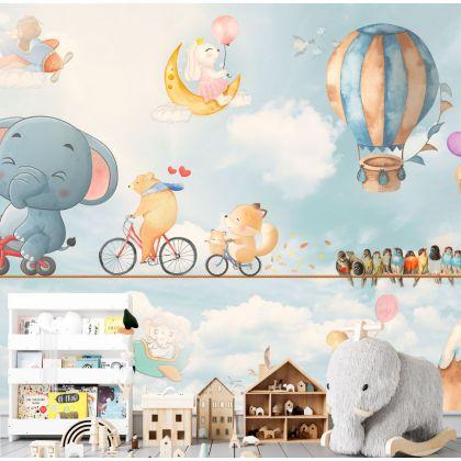 Fairy Animals Wallpaper Animals Nursery Removable Wallpaper