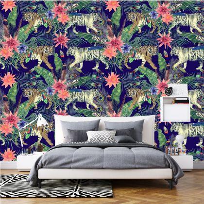 Animal Safari Wallpaper Tropical Jungle Self Adhesive Wallpaper