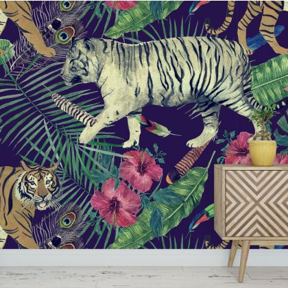 Animal Safari Wallpaper Tropical Jungle Peel and Stick Wallpaper