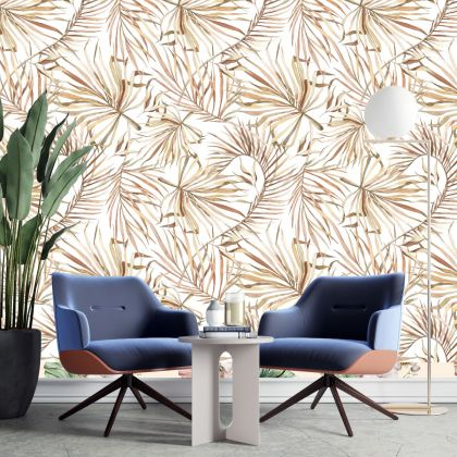 Watercolour, spring, Leaves Peel and Stick Removable Wallpaper for Home Mural Cafe Decoration Self Adhesive Wall Covering Sticker Decal