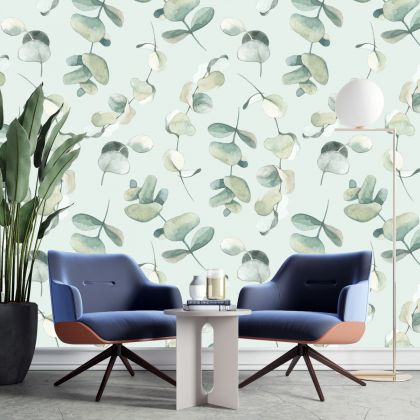 Green Plant Wall Stickers Wall Decal Plants Small Fresh Bedroom Living Room Warm Self-adhesive Wallpaper decals
