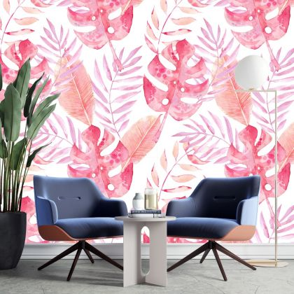 Large Palm Leaf Pattern- Custom Vinyl Removable Wall Decals Nature Leaf Tree Floral Wall Print decor