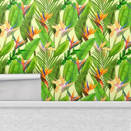 Colorful Tropical Leaves Wallpaper Leaf Wall Poster Trendy Living Room Modern Stylish Tree Kitchen Mural decor