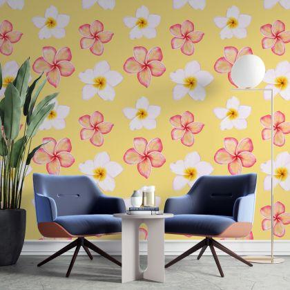 yellow Flower Wall Decals, Daisy Wall Decal, Floral Wall Decals, Retro Wall Decal, Modern Wall Decor, Modern Nursery Decor