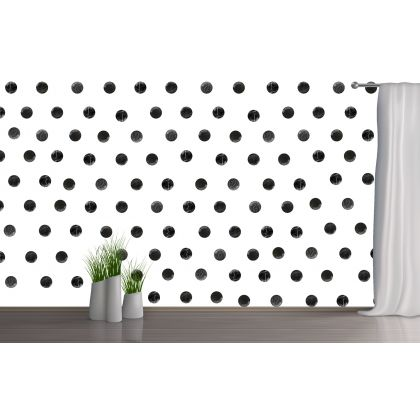 Set of 20 Black Marble Effect Polka Dots Wall Stickers, Marble Effect Pattern for kids room wall stickers