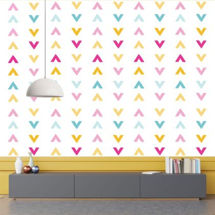 Set of 20 Multicolour Arrow Wall Stickers, Pattern for kids room wall stickers