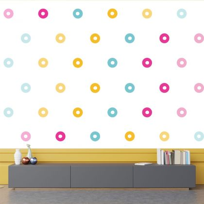 Set of 20 Multicolour Circle Wall Stickers, Pattern for kids room wall stickers
