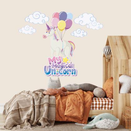 My Magical Unicorn Wall Stickers Fantasy Girls Bedroom Wall Art