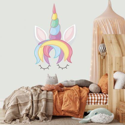 Unicorn Horn Wall Stickers Fantasy Girls Bedroom Wall Art