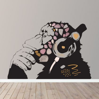 Banksy Monkey Wall Stickers Fantasy Girls Bedroom Wall Art