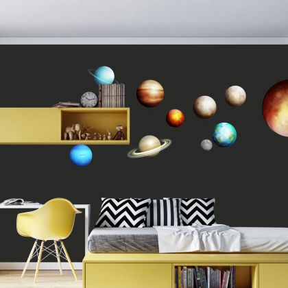 Space wall stickers for Nursery kids room décor