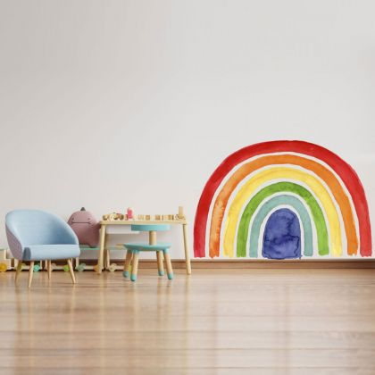 Boho Rainbow wall stickers for Nursery, kids room vinyl wall decals