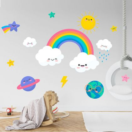 Rainbow wall stickers for Nursery kids room