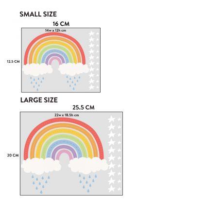 Rainbow wall stickers for Nursery, kids room Stars vinyl wall decals