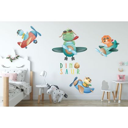 Flying Dinosaur Group Wall Decal for Kids Room Jurassic Park